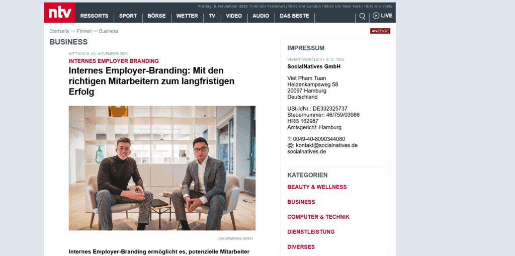 Screenshot 2020 11 06 Internes Employer Branding Firmen n tv de1
