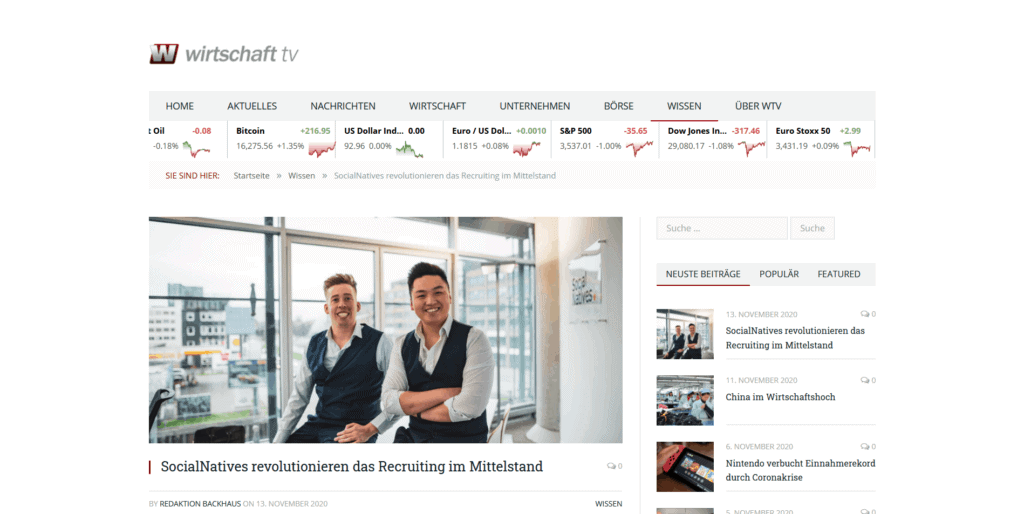 Screenshot 2020 11 13 SocialNatives revolutionieren das Recruiting im Mittelstand
